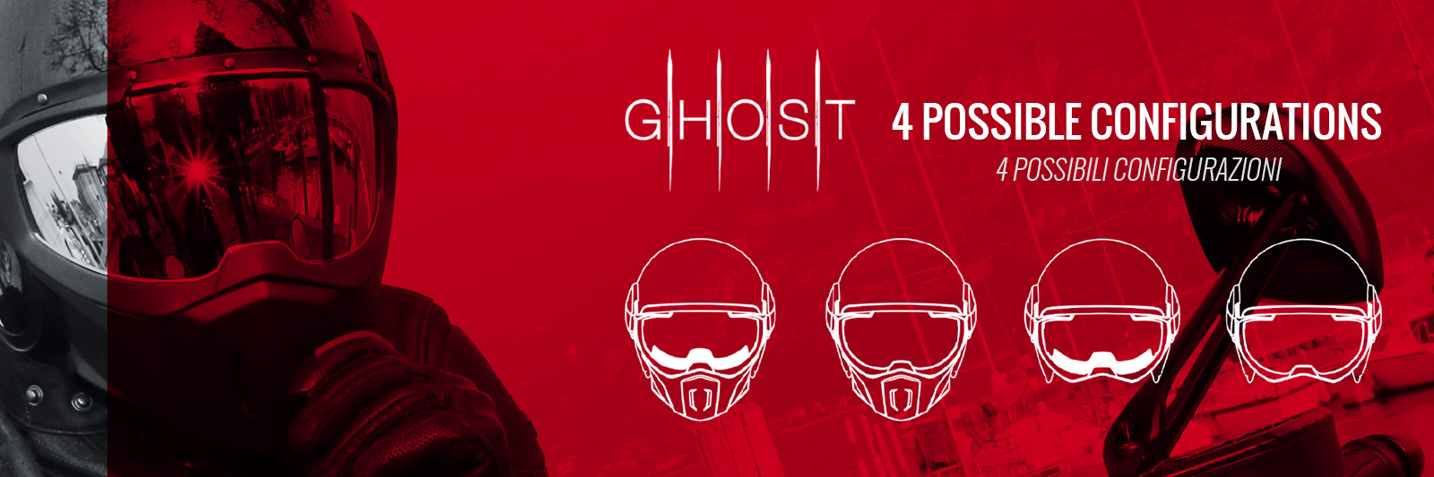 Caberg Ghost 4 options